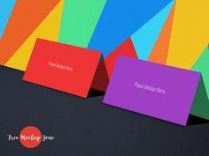 Free Tutti Frutti Business Card Mockup