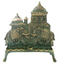 Indian style elephant design chanukah menorah