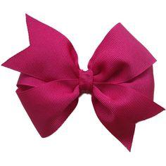Dark red hair bow - maroon hair bow, burgandy hair bow, 4 inch hair... ($5) ❤ liked on Polyvore