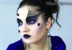 Halloween Makeup cute | Halloween makeup tutorial for spider queen black widow look