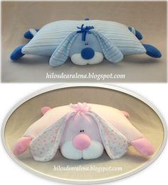 Dog Crafts, Diy Home Crafts, Sewing Crafts, Baby Pillows, Kids Pillows, Baby Gifts To Make, Pillow Mattress, Homemade Dolls, Baby Fabric