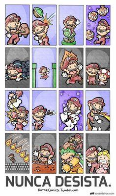 Lição de vida do Mario Bros.