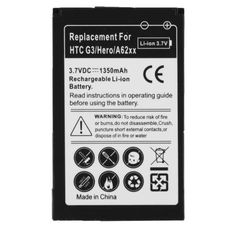 1350mAh+Mobile+Phone+Battery+for+HTC+Hero+G3