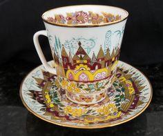 Lomonosov Porcelain Teacup/saucer.
