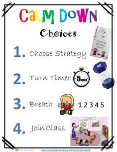 I like these expectations for the calm down corner. It encourages students to process their feelings independently and in a timely manner, so they can jump back into our class activity. Autism Classroom, Special Education Classroom, Preschool Classroom, Kindergarten, Calm Classroom, Classroom Decor, Elementary School Counseling, School Counselor, Elementary Schools