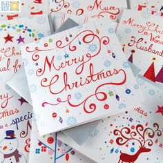 Snowflakes Christmas cards from Blue Eyed Sun