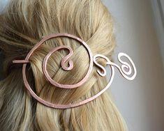 Copper hair fork Hair accessories Hair barrette Brooch