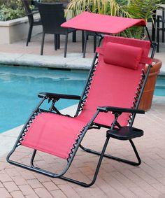 This Crimson Red Oversize Zero Gravity Chair Is Perfect! #zulilyfinds Amazing Design