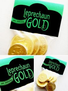 100% Genuine Leprechaun Gold Treat Bag Topper
