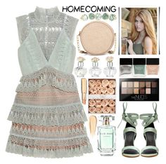 """""""Homecoming Style"""" by barbarela11 ❤ liked on Polyvore featuring self-portrait, TIBI, Neiman Marcus, Shabby Chic, Butter London, Maybelline, Elie Saab and Hourglass Cosmetics"""
