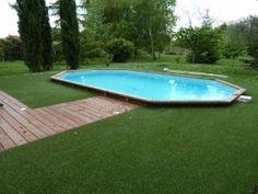 Tour de piscine en gazon synthétique - Toujours Vert - Castelnaud d'Estrefond
