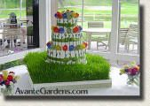 Wheatgrass wedding cake