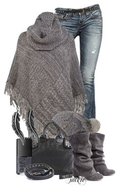 """""""The Poncho 3"""" by jackie22 ❤ liked on Polyvore featuring мода, True Religion, Ann Harvey, Fat Face, Steve Madden, NARS Cosmetics, Lucky Brand, Mulberry, Miss Selfridge и distressed denim"""
