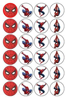 Resultado de imagem para free printable cupcake wrappers and toppers with spiderman Spiderman Theme Party, Superhero Birthday Party, 6th Birthday Parties, Birthday Fun, Spiderman Birthday Ideas, Spiderman Cupcake Toppers, Man Party, Party Poster, Cupcake Wrappers