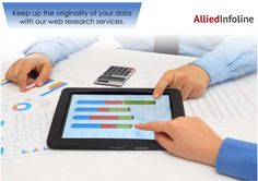 Web Research services: keep up the originality of your data Visit: http://www.alliedinfoline.com/ #ebookservices #Dataentryservicesindelhi #transcriptionservices #audiotranscriptionservices #businesstranscriptionservives #dataservicesindelhi