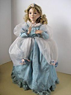 "Diana Effner Porcelain Doll ""Cinderella at the Ball""-17""w/stand for Ashton Drake #TheAshtonDrakeGalleries"