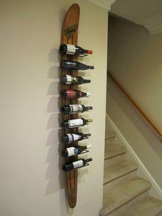 Vintage Waterski Wine Rack. Need to make this!