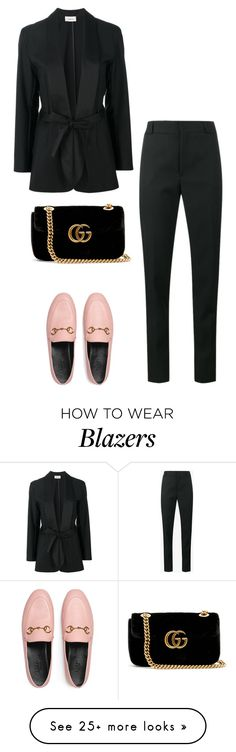 """Untitled #266"" by josefinaoskarsson on Polyvore featuring Totême, Yves Saint Laurent and Gucci"