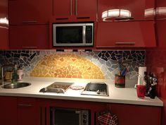 Kitchen backslash mural