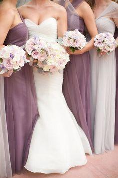 mauve and ivory mismatched bridesmaid dresses Indigo Wedding, Mauve Wedding, Chic Wedding, Wedding Colors, Party Wedding, Wedding Details, Wedding Ideas, Lavender Bridesmaid, Mismatched Bridesmaid Dresses