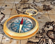 Like the colour on the compass rose and the sketches in the background