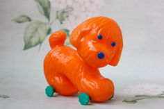 Soviet Dog Pull Toy / Cute Collectible by LittleMonstersStore