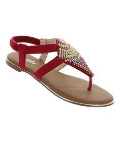 Red Whitney Sandal