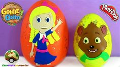 Goldie and Bear Giant Play-Doh Surprise Egg in Spanish