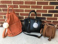 These gorgeous bags are perfect for fall!  Orange backpack:...