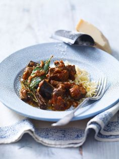 Slow-cooked lamb with aubergines recipe. The Greeks know how to treat a leg of lamb with tender loving care as demonstrated in this slow-cooked lamb stew with aubergines. Lamb Recipes, Greek Recipes, Meat Recipes, Slow Cooker Recipes, Cooking Recipes, Healthy Recipes, Savoury Recipes, Slow Cooking, Uk Recipes