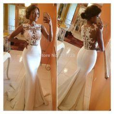 New Arrival Elegant High Neck Sleeveless Satin Lace Top Mermaid Prom Dresses Women 2014 Long Evening Party BO5688 $179.00