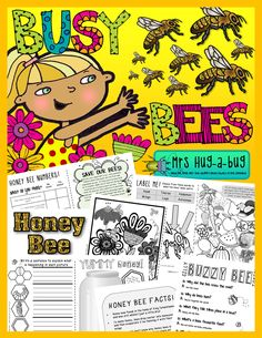 Busy Bees!  Get a sweet honey fix with this 20 page busy bee booklet – full of activities that celebrate the amazing things bees do for our planet!