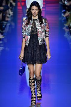 Kendall Jenner walks Elie Saab Spring 2016