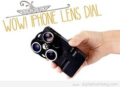 iphone lens dial and iphone lens cases! #geek #iphone #photography