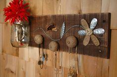 Urban Chic meets Country wall decor Necklace Organizer by SplintersAndNails, $39.50