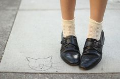 loafers with white socks #fashion #trends