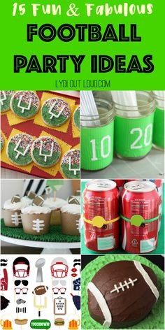 Home Decor Pictures 15 Fun & Fabulous Football Party Ideas.Home Decor Pictures 15 Fun & Fabulous Football Party Ideas Football Party Decorations, Diy Party Decorations, Party Themes, Party Ideas, Football Snacks, Football Themes, Football Stuff, Super Bowl, Indoor Picnic