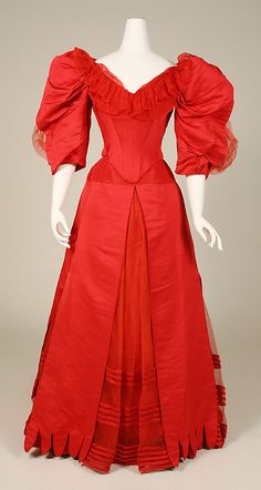 Ball Gown, House of Worth 1896, French, Made of cotton