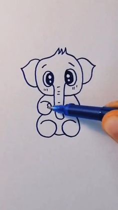 Cute Easy Drawings, Art Drawings Beautiful, Art Drawings For Kids, Art Drawings Sketches Simple, Doodle Drawings, Drawing For Kids, Easy Doodle Art, Doodle Art Designs, Cute Easy Doodles
