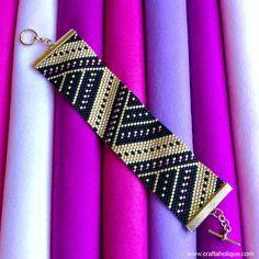 Peyote Stitch Cuff Bracelet PDF Pattern Angular Splendour