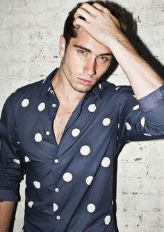 Polkadots! Love this //Men's fashion  with colors and style  Man fashion