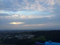 観覧車のてっぺんから夕陽…は残念ながら撮影できず。眺めは良かったなあ。
