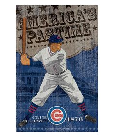 Look what I found on #zulily! Chicago Cubs Vintage-Inspired Wall Art #zulilyfinds