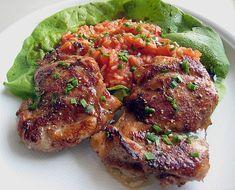 Hähnchensteaks auf Tomatenreis, ein schmackhaftes Rezept aus der Kategorie INFORM-Empfehlung. Bewertungen: 52. Durchschnitt: Ø 4,1.
