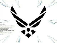 :) Air Force pumpkin template
