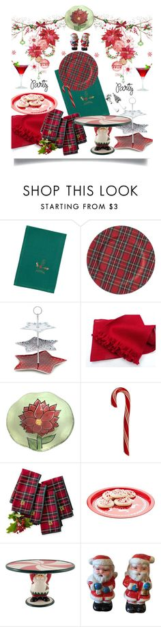 """""""Deck the Halls for Your Holiday Party'"""" by dianefantasy ❤ liked on Polyvore featuring interior, interiors, interior design, home, home decor, interior decorating, Bardwil, At Home with Ashley Thomas, Fitz & Floyd and polyvorecommunity"""