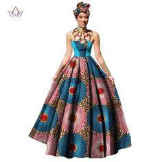 Womens African Dress Dashikis Print Ball Gown Party Dress, Maxi and Strapless Women gown with Free Headwear Plus - without Necklace Dashiki Dress, Women Sleeve, African Beauty, African Dress, Sleeve Styles, Ball Gowns, Party Dress, Type 100, Fashion Outfits