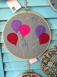 Embroidery Hoop Wall Art by Measureafabricparlor on Etsy, $30.00