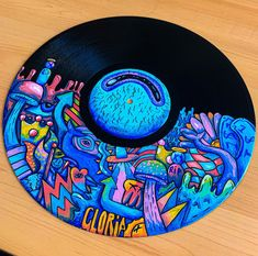 acrylic painting i did on an old record : painting Cd Wall Art, Record Wall Art, Cd Art, Trippy Drawings, Art Drawings, Trippy Painting, Hippie Art, Vinyl Art, Aesthetic Art