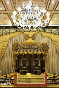 The Throne of Old Royal Palace of Malaysia.